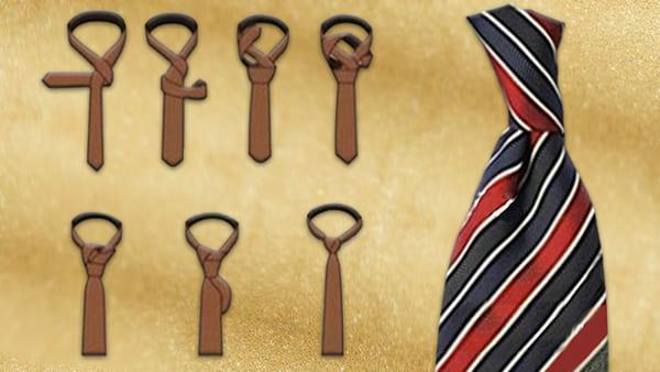 Как завязать галстук пошагово простой Крестовый узел