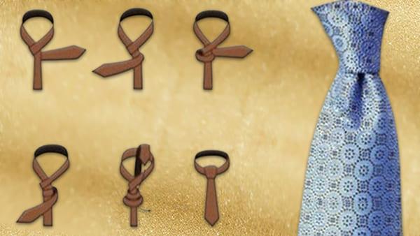 Как завязать мужской галстук пошагово фото Узел Принц Альберт