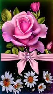 """""""Роза и ромашки"""" открытка подруге"""